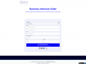 visual of an order form
